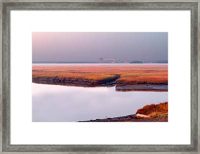 Seabrook Glows Framed Print by Shell Ette