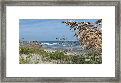 Seabrook Sc Beach Framed Print by Val Miller