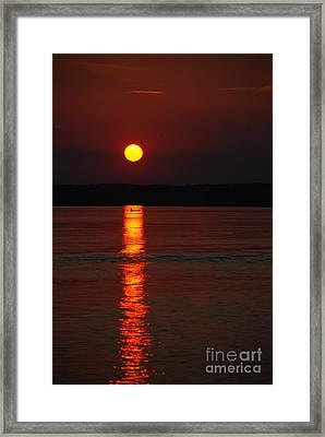 Seabrook Sunset Framed Print