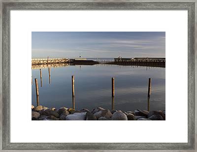 Seaby Harbor Inlet Framed Print