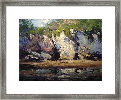 Seacaves At Pismo Beach Framed Print by R W Goetting