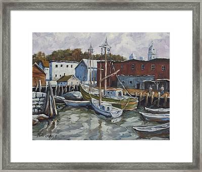 Seacscape Dock Scene By Prankearts Framed Print by Richard T Pranke