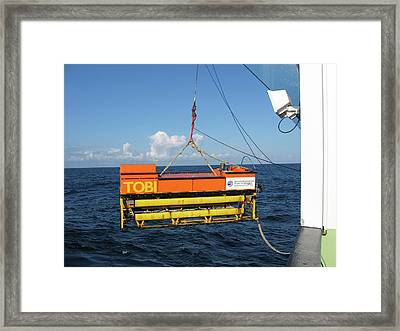 Seafloor Mapping Instrument Framed Print by B. Murton/southampton Oceanography Centre