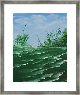 Seafoam Surf Framed Print by Jennifer Muller