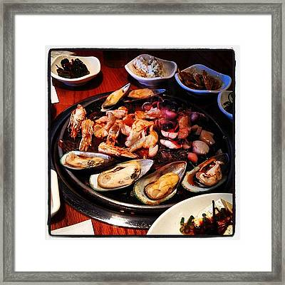 #seafood Galore, #easter #sunday #lunch Framed Print