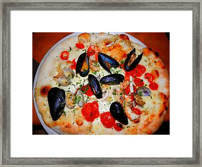 Seafood Pizza Framed Print