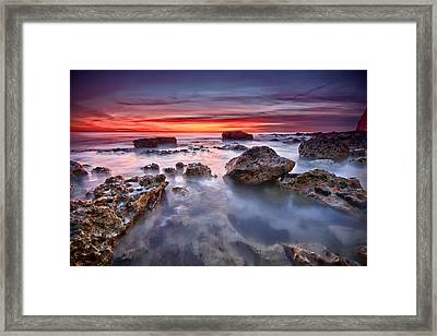 Seaford Rock Pool Framed Print by Mark Leader