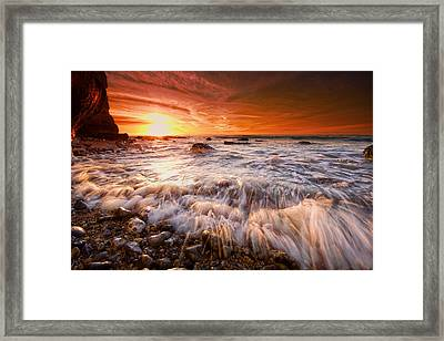 Seaford Sparklers Framed Print by Mark Leader