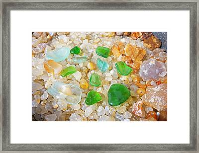 Seaglass Green Art Prints Agates Beach Garden Framed Print