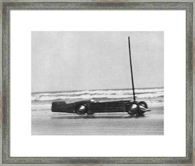 Seagrave's Golden Arrow Car Framed Print by Underwood Archives