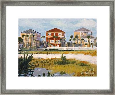 Seagrove Beach Houses Framed Print by Jeanne Forsythe