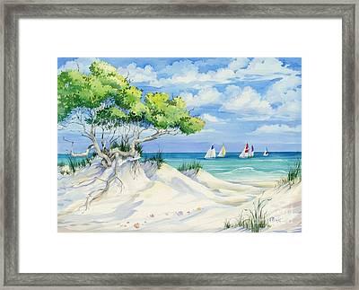 Seagrove Beach Framed Print by Paul Brent