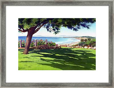 Seagrove Park Del Mar Framed Print by Mary Helmreich