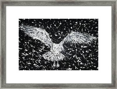 Seagull - Oil Portrait Framed Print by Fabrizio Cassetta