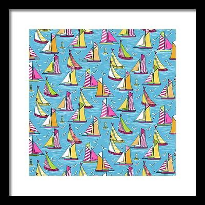 Bouys Drawings Framed Prints