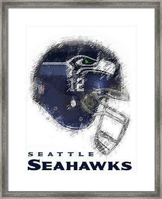 Seahawks 12 Framed Print by Daniel Hagerman