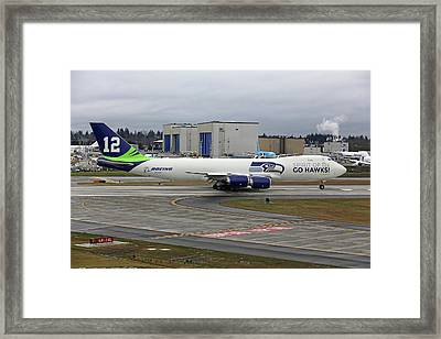 Seahawks 747 Framed Print by Paul Fell