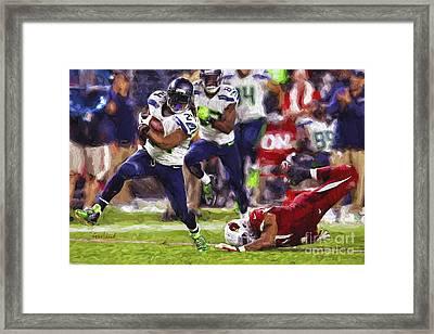 Seahawks Football Framed Print