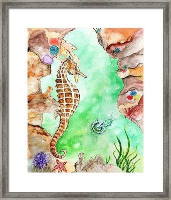 Seahorse Cave Framed Print