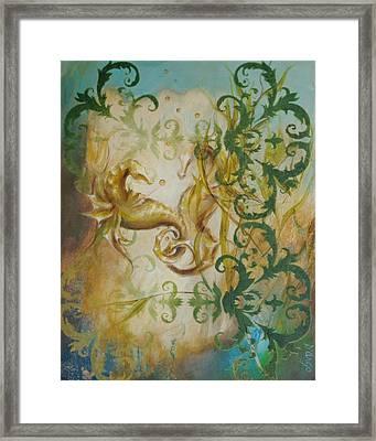 Seahorse Dream 2 Framed Print by Dina Dargo