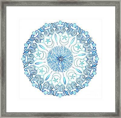 Seahorse Mandala Framed Print