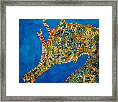 Seahorse Framed Print by Michael Henzel