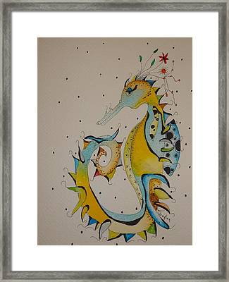 Seahorse Framed Print by Michelle Thompson