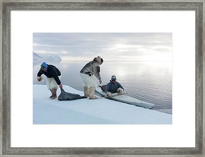 Seal Hunting Framed Print by Louise Murray