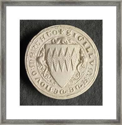 Seal Of Adam De Novo Mercato Framed Print by British Library