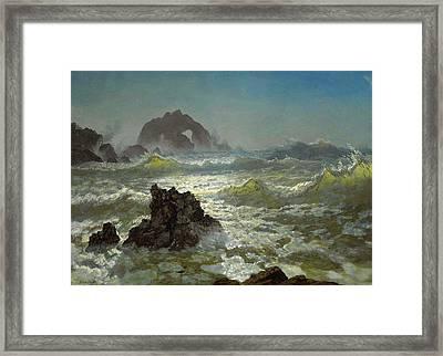 Seal Rock California Framed Print by Albert Bierstadt