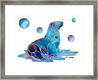 Seal Salty  Framed Print by Jo Lynch