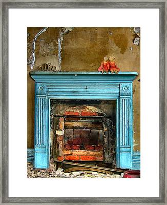 Sealed Forever In The Past Framed Print by Julie Dant