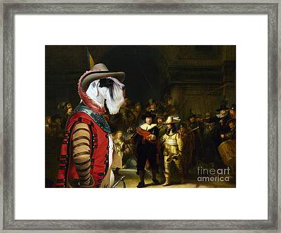 Sealyham Terrier Art - The Company Of Captain Framed Print