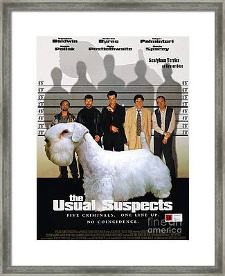 Sealyham Terrier Art Canvas Print - The Usual Suspects Movie Poster Framed Print