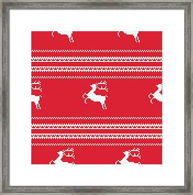 Seamless Christmas Pattern Framed Print by Mike Taylor