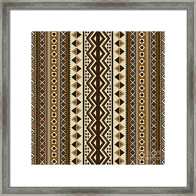 Seamless Ethnic Pattern Framed Print
