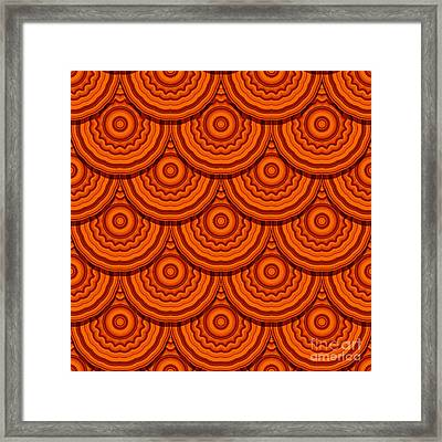 Seamless Geometric Design Framed Print