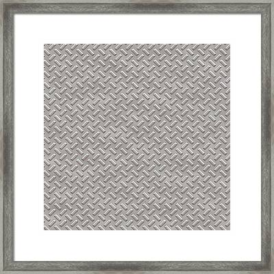 Seamless Metal Texture Rhombus Shapes 1 Framed Print by REDlightIMAGE