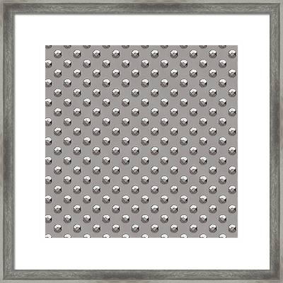 Seamless Metal Texture Rhombus Shapes 2 Framed Print by REDlightIMAGE
