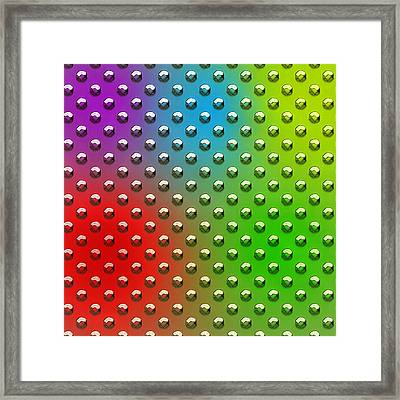 Seamless Metal Texture Rhombus Shapes Coloring Framed Print by REDlightIMAGE