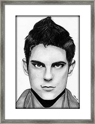 Sean Faris Framed Print by Saki Art