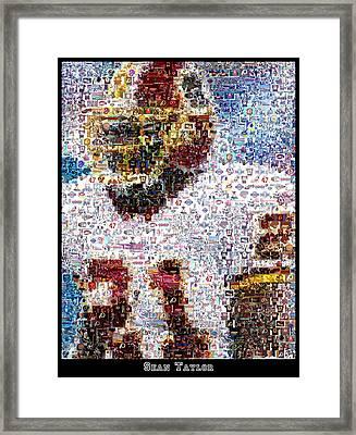 Sean Taylor Mosaic Framed Print by Paul Van Scott