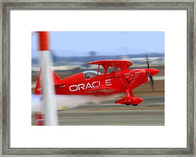 Sean Tucker And The Oracle Challenger II At Salinas Airshow Framed Print