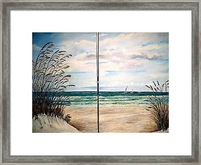 Seaoats On The Beach Framed Print