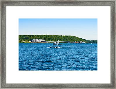 Seaplane In The Sea, Deep Bay, Parry Framed Print