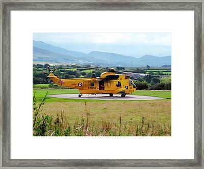 Search And Rescue Helicopter Framed Print by Cordelia Molloy