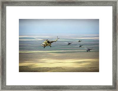Search And Rescue Helicopters Framed Print by Nasa/bill Ingalls