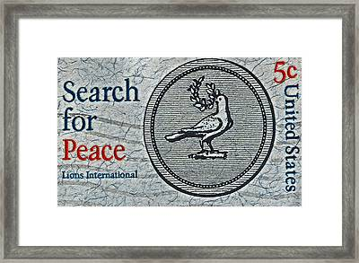 Search For Peace Framed Print by Bill Owen