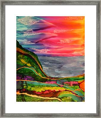 Search The Golden Path Framed Print