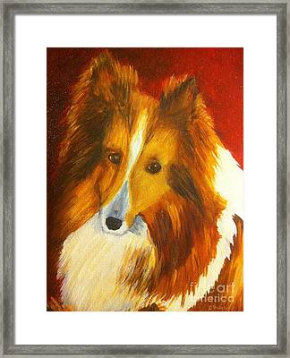 Framed Print featuring the painting Searcher by Shelia Kempf